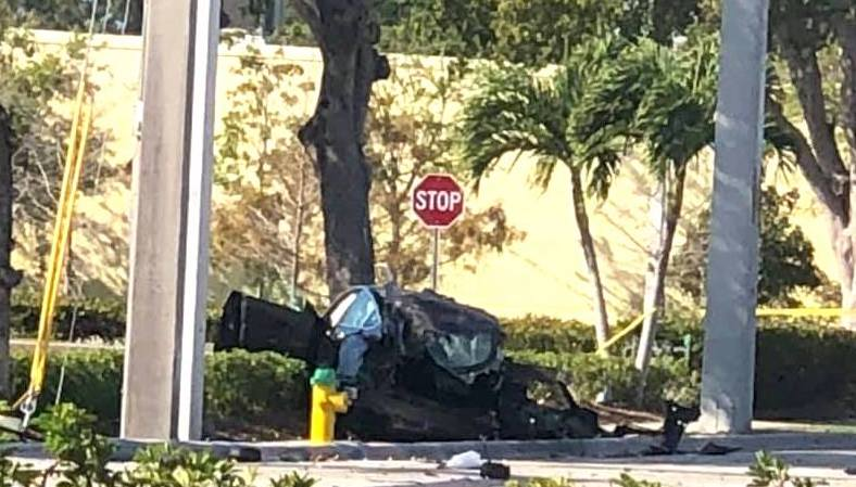 Tesla Fatal Crash in Deerfield Beach