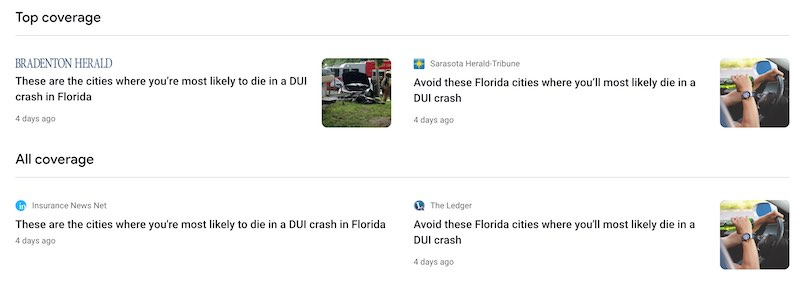 Pathetic Miami Herald Article on DUI Deaths