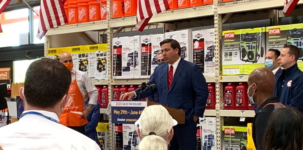Governor DeSantis Press Briefing in West Boca